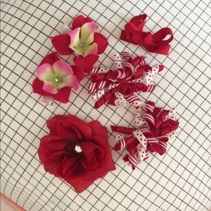 Other - Girls' Hair Clips - Bundle of 6 Red